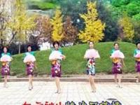 太原魅力无限广场舞《万水千山总是情》编舞春英 团队正背面演示