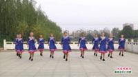 河南省项城市开心姐妹健身队广场舞  天边的故乡 表演 团队版