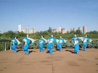 田益珍广场舞《黄土塬》原创舞蹈 正背表演 团队版