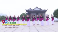 新化新韵队广场舞 月雨绵绵 表演 团队版