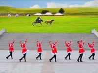 立华广场舞临盘明星队广场舞《雕花的马鞍》正背面附口令教学 表演 团队版