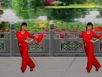 新丽莉广场舞《情歌赛过春江水》原创舞蹈 正背面演示