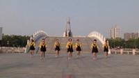 河南十里阳光舞蹈队广场舞 前世今生的轮回 表演 团队版
