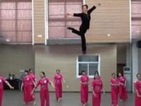 李琦广场舞《梁祝》原创舞蹈 团队课堂练习