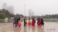 天津新疆老知青舞蹈队广场舞 英笛 表演 团队版