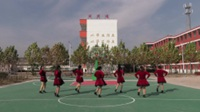 安徽五河县浍南开心队广场舞 等到山花开 表演 团队版