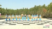 河南省信阳市息县红梅艺术团二团广场舞  十送红军 表演 团队版