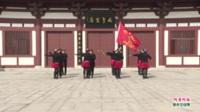 河南省洛阳市牡丹广场水兵舞团广场舞  阿哥阿妹 表演 团队版