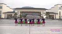 湖北黄梅西河舞缘舞蹈队广场舞 康巴汉子我的情郎 表演 团队版