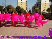高安欣悦广场舞《好运来》原创长扇舞 团队演示