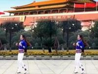 长兴秋天广场舞《点赞新时代》原创导地姐妹合屏 正背面演示