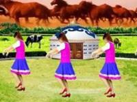 龙海追梦广场舞《马背上的爱人》编舞茉莉 正背面演示