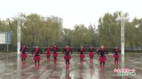 河南省洛阳市嵩县车村乡里乡亲健身队广场舞  今生只爱你一个 表演 团队版