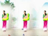 莲香姐妹广场舞《山水恋情》原创单扇舞 正背面演示及口令分解动作教学