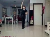 金金广场舞《站在草原望北京》原创视频 附正背面口令分解教学演示