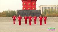 获嘉县孟庄开心广场舞 火红的萨日朗 表演 团队版