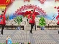淄博馨秀广场舞《财神来到我家门》原创舞蹈 正背面口令分解动作教学演示