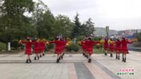 广西桂林灌阳县三联范家健身队广场舞  红红的中国 表演 团队版