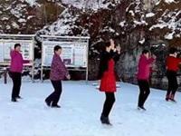 代玉广场舞《相伴一生》原创舞蹈 团队姐妹雪景版