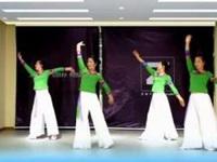 江西万安滨江广场舞队《沂蒙颂》原创舞蹈 正背演示