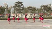 河南省南阳市方城县开心舞蹈队广场舞  这山这水这么美 表演 团队版