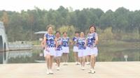 湖南宁乡玉谭镇黑金时代表演队广场舞 一朵云在蓝天飘过 表演 团队版