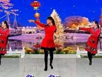 代玉广场舞《财神来到我家门》原创舞蹈 异地姐妹合屏