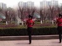 月梅广场舞《天上的太阳红彤彤》原创舞蹈 正背面口令分解动作教学演示