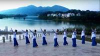 陕西汉中紫水晶广场舞队广场舞 《春风渡水》 正背表演 团队版
