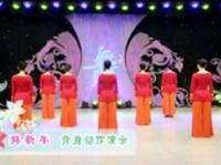 廊坊星月广场舞 第十四季 第五集 拜新年 背面展示