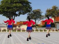 江西南昌玉米可乐广场舞《草原的夏天》原创舞蹈 背面演示