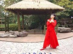 江南雨广场舞《红衣》原创古典舞 正背面分解演示