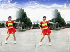 四川雪儿广场舞《一起嗨起来》编舞太湖一莲 雪儿正背面演示