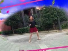四川两河严垚祺广场舞《今夜的你又在和谁约会》原创舞蹈 正背面演示