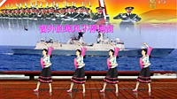惠州阿娜广场舞《亲爱的兵你不要想家》原创三步舞 正背面教学演示