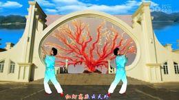 海渊佟姐广场舞《珊瑚颂》编舞舞之韵 正背面演示