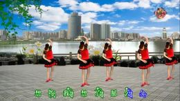 龙游红飞舞广场舞《再唱等你那么久》编舞青儿 正背面演示