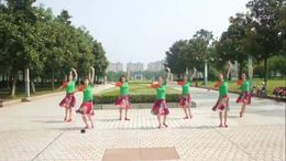 铜韵舞者广场舞《情在远方》编舞张春丽 正背面演示