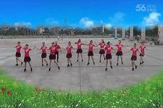 吉美广场舞《请到天涯海角来》原创舞蹈 团队正背面演示