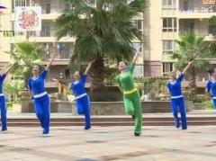 杨丽萍广场舞《红火情歌》原创动感健身操 附正背面口令分解教学演示