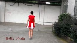 宜春红羽广场舞《火了火了火》原创舞蹈 附正背面口令分解教学演示