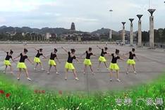 吉美广场舞《月亮的女神》原创舞蹈 团队正背面演示