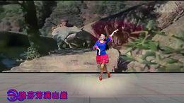 达州兰草广场舞《绒花》原创舞蹈 正背面演示