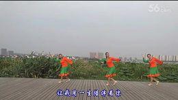 盛泽雨夜广场舞《心中的女神》编舞廖弟 正背面演示