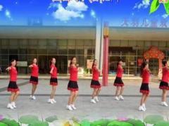 重庆叶子广场舞《康电情歌》编舞春英 团队正背面演示