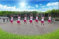 吉美广场舞《星星的约会》原创舞蹈 团队正背面演示