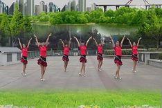 吉美广场舞《Darling我爱你》原创拉丁健身操 团队正背面教学演示