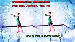 谢春燕广场舞《又见北风吹》原创中三形体 附正背面口令分解教学演示