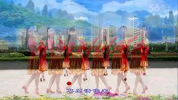 龙岩建春舞蹈队广场舞《草原请你来》编舞王梅 团队正背面演示
