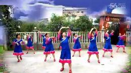 谢春燕广场舞《带着吉祥进北京》原创舞蹈 团队正背面演示